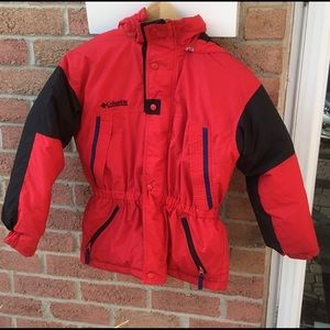 Columbia Boys Warm Winter Coat Size 10-12 Red
